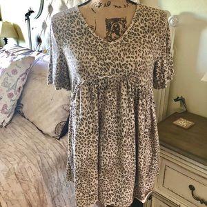 Leopard babydoll top